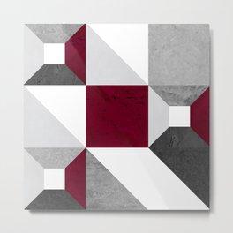 Modular Block Clay Metal Print