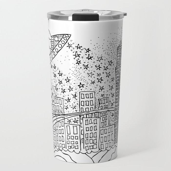 NYC Aliens Travel Mug