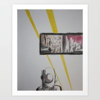 clockwork Art Prints featuring Clockwork by MassiveTrain