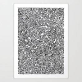 minimal doodle Art Print
