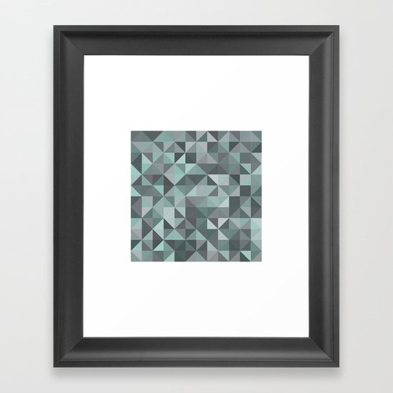 #105 Diamond dust – Geometry Daily Framed Art Print