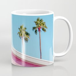 Pink House Roofline with Palm Trees (Palm Springs) Coffee Mug