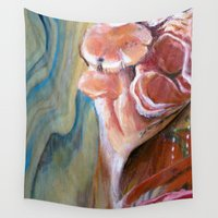 climbing Wall Tapestries featuring Climbing Fungi by Cassandra_Dunmyer_Art