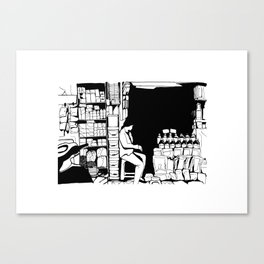 Grocery store in Hanoï Canvas Print