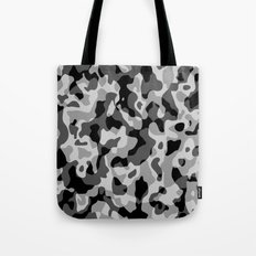 Grey Camouflage Army Military Pattern Tote Bag