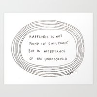 happiness Art Prints featuring happiness by rubyetc