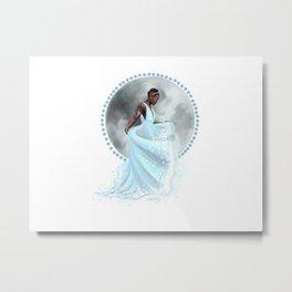 The Moon Goddess Metal Print