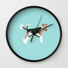 wire fox terrier funny farting dog breed pure breed pet gifts Wall Clock