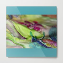 towel,furniture decorative panel clock tray abstraction hand painting on fabric Metal Print