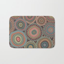 Boho Patchwork-Vintage colors Bath Mat