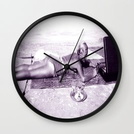 Summer in the French Riviera! Wall Clock