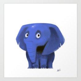 Little elephant Art Print