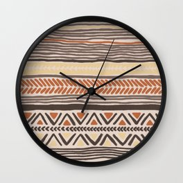 Hand Drawn Ethnic Pattern Wall Clock