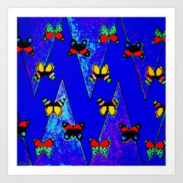 Bright Butterfly Pattern Print Art Print