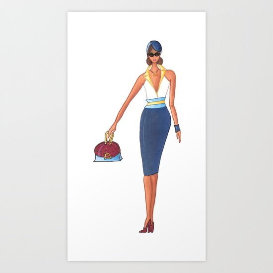 On the Town Art Print