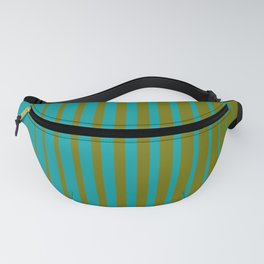 gradient stripes aqua olive Fanny Pack