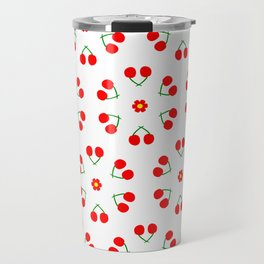 Cherry Blossoms Pattern Travel Mug