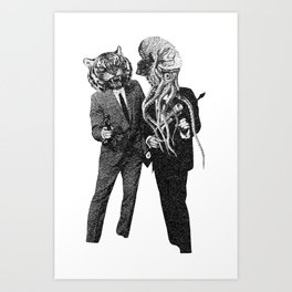The Made Us Detectives (1979) Monochrome Art Print