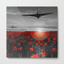 Poppy Vulcan's Isolated Metal Print