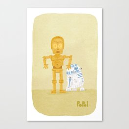 C3PO and R2D2 Canvas Print