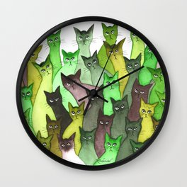 Lebanon Many Whimsical Cats Wall Clock