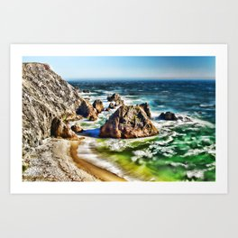 Amazing Surge Patterns in the Surf at Point Reyes, Calfornia Art Print
