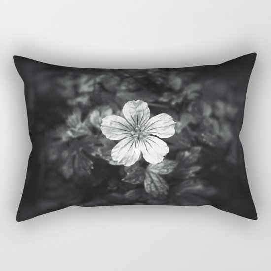 Minimalistic black and white flower petal Rectangular Pillow