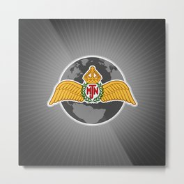 MJN air logo/grey Metal Print
