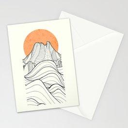 Big sun cliffs Stationery Cards