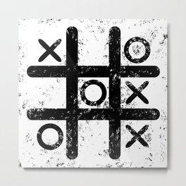 Tic Tac Toe Metal Print