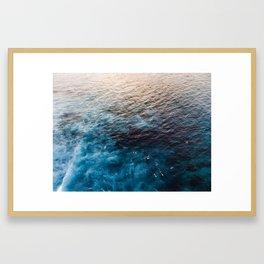 Surfers at Sunset Framed Art Print