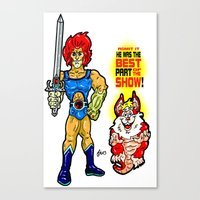 thundercats Canvas Prints featuring SNARF!  The greatest of ALL The Thundercats...  Way cooler than Lion-O! by beetoons