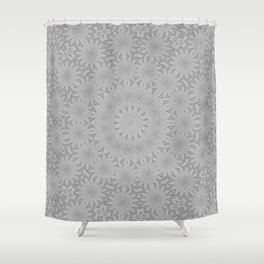 Shades of Grey Mandala Kaleidoscope A171B Shower Curtain