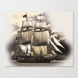sailing ship vintage Canvas Print