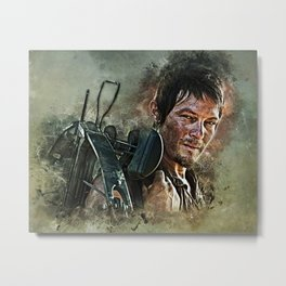 Dixon The Crossbow King Metal Print