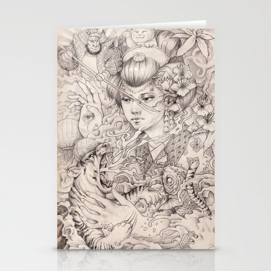 Irezumi Stationery Cards