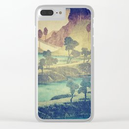 A Valley in the Evening Clear iPhone Case