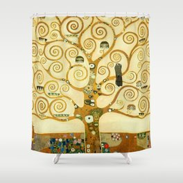 Gustav Klimt The Tree Of Life Shower Curtain