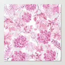PINK SUCCULENTS #society6 Canvas Print