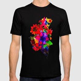 Inky Flowers T-shirt