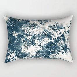 Blue Leaves #1 Rectangular Pillow