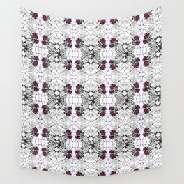 Roses Black Widow Wall Tapestry