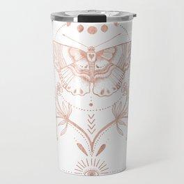 Magical Moth In Rose Gold Travel Mug