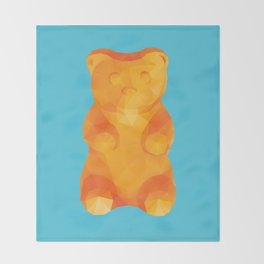 Gummy Bear Polygon Art Throw Blanket