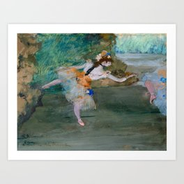 "Edgar Degas ""Dancer on stage"" Art Print"