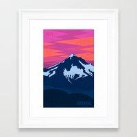 oregon Framed Art Prints featuring Oregon by AtomicChild