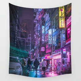 Cyberpunk Neo Tokyo Wall Tapestry