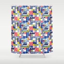 Geometric Playground Shower Curtain