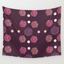 Red and Purple DnD Dice Wall Tapestry