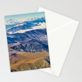 Andes Mountains Aerial View, Chile Stationery Cards